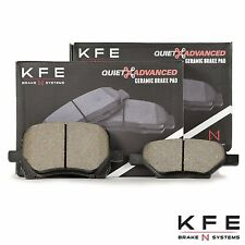 Premium Ceramic Disc Brake Pad FRONT + REAR New Set Plus Shims KFE1160 KFE1033