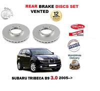 FOR SUBARU TRIBECA 3.0i B9 1/2005> BRAND NEW REAR BRAKE DISCS SET (VENTED discs)