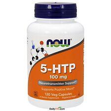 NEW NOW Foods 5 HTP 100mg 120 VCaps FREE SHIPPING tryptophan amino serotonin