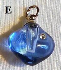 Ciondoli di bigiotteria in vetro blu