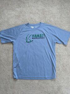 Under Armour Heat Gear Hawaii Rainbow Warriors Football Gray Tee Men's 3XL XXXL