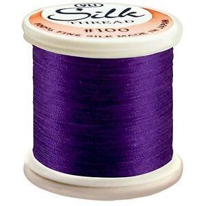 Kanagawa / YLI 100% and #100 Silk Thread [ 244 - Eggplant ]