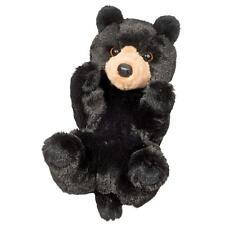 "Raven Black Bear Large Handful Stuffed Animal 9"""