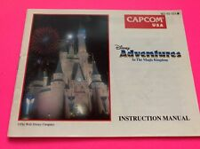 Nes Nintendo Disney Adventures In The Magic Kingdom Manual Only