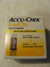 Accu-Check FastClix Lancets - 100+2 Lancets Expiration 7/31/2022 Brand New Save$