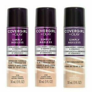 Covergirl + Olay Simply AgeLess 3-in-1 Liquid Foundation..choose your Shade.