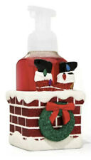 Bath & Body Works Santa Stuck in Chimney Ceramic Hand Soap Holder Sleeve