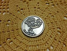 """""""DeColores""""  ROOSTER POCKET TOKEN"""" 1-1/2"""" Round, Prayer on back. NEW"""