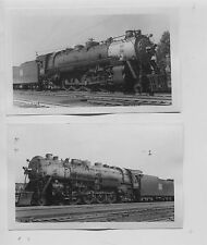 1941 Rock Island Railroad #4051 #4058 Steam Engine Chicago, Illinois Photographs