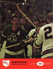 1970 (Jan. 1) WHL Hockey Program, Seattle Totems @ Portland Buckaroos ~ Fair