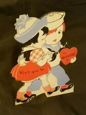 Vintage Made in Usa Valentines Day Card Stand Up Die Cut - No Writing RefCard#