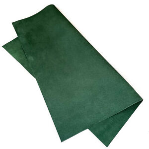 Dark Green 12x12in/30x30cm Leather Sheets // Soft Leather Pieces // Velour Mate