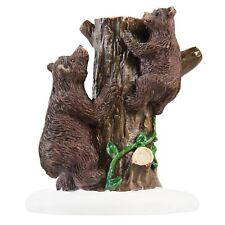 HOLIDAY TIME CHRISTMAS VILLAGE HOUSE ACCESSORIES - BEARS HAVING FUN FIGURE