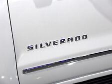 1x OEM Chrome SILVERADO Nameplate Emblem Badge letter 3D Emblem  Chevrolet 2YU