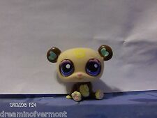 Littlest Pet Shop Brown and Tan Panda with Blue Eyes #1495