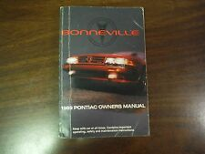 1989 Pontiac Bonneville Owners Manual with Extras