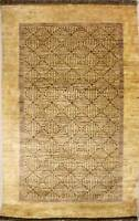 Rugstc 3x5 Senneh Gabbeh White Area Rug,Vegetable dye, Hand-Knotted,Wool Pile