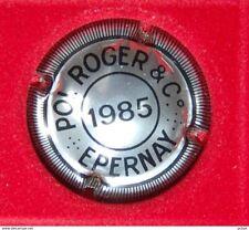 Plaque de muselet de champagne Pol roger millesime 1985
