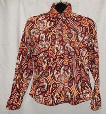 Ladies PATAGONIA Western Bright Floral Rhythm Snap Button Shirt Organic Cotton S