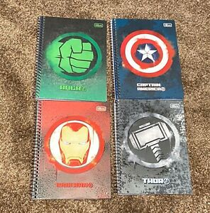 "Marvel Avenger Spiral Bound Notebook Agenda Pad 7""x9"" 160 Sheets NEW"