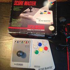 UFFICIALE Nintendo SNES punteggio SUPER MASTER in scatola ARCADE Bastone di combattimento Stick