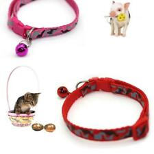 Adjustable Pet Collar for Cats and Dogs Printing Neck ring reflective With Bell