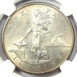1903-S Philippines Peso 1P Coin - Certified NGC Uncirculated Details (UNC MS)