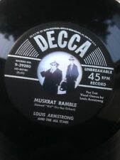 7'' Louis Armstrong Muskrat Ramble On Decca VG- (Vocal Jazz)