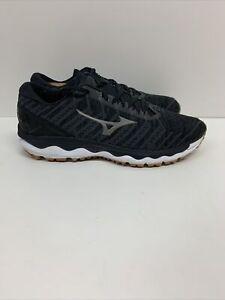 Mizuno Men's Wave Sky 4 WAVEKNIT Running Shoe Dark Shadow Black Sz 9 EU 42