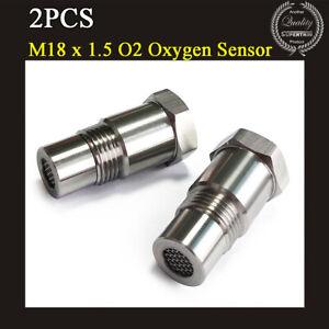 2Pcs M18x1.5 90 Degree O2 Oxygen Sensor Extension Spacer Remove Fault Connector