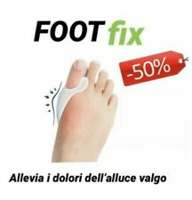 Allevia ALLUCE VALGO  Foot Fix  tutore silicone FOOTFIX  2 pezzi anallergico
