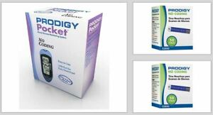 Prodigy Pocket Blood Glucose Meter & 100 Strips Exp. LATE 2021 Free S&H
