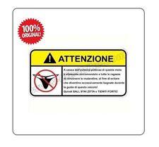 """Stampino Adesivo per Moto """" DIVIETO DI MUTANDINE """"  - LIFE4BIKE - warning"""
