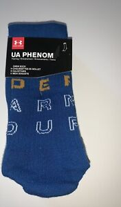 3 Pairs Under Armour Men's UA Phenom Crew Socks Sz 8-12 Blue, Gray, Mustard