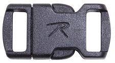 "Paracord Bracelet Buckle Survival Black 3/8"" Rothco 213"