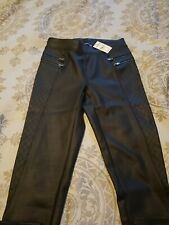 Express Faux Leather Quilted Black Legging XXS NWT