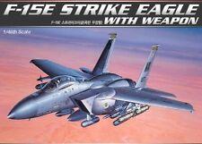 Academy 1/48 Plastic Model Kit F-15E STRIKE EAGLE with Weapon 12264 NIB