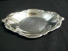 "Vintage Community Silver Plated Oval Trinket / Candy Tray Ornate Design 9"""