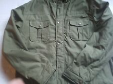 NWT Victory Mens Sherpa Lined Cotton Canvas  Olive Khaki Jacket