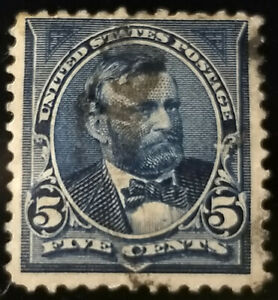 #281 - 1898 5c Grant Stamp (Dark Blue)