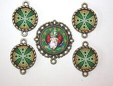 IRISH St. Patrick Rosary Parts Set # 1~ Celtic Cross Paters - FREE SHIPPING!