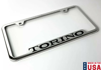 Set of 2 1935 Ford License Plate Frame Chrome Finish with Blue and White Script