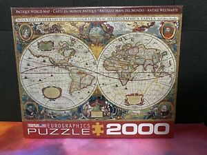 SEALED EuroGraphics Antique Map of The World Jigsaw Puzzle 2000-Piece