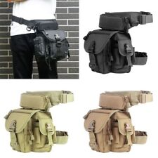 Military Molle Tactical Drop Leg Bag Tool Fanny Thigh Pack Pouch Motorcycle Bag