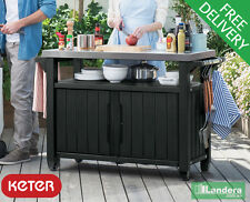 Keter Unity XL – BBQ storage and workspace - Stainless Steel Top