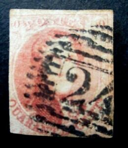 1858 Belgium S# 12, 40 Centimes Red Brown Used Stamp *