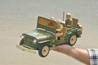 Vintage MSK ST Mark Litho U.S Army Jeep Tin Toy, Japan