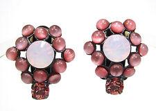 SoHo® Ohrclips geschliffene Kristalle rose water opal bohemia Glas moonshine