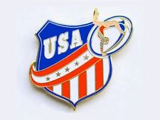 Ladies Usa Gymnastics Lapel Pin - Patriotic New Design