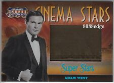 "2007 DONRUSS AMERICANA JUMBO WORN SWATCH: ADAM WEST #8/10 ""BATMAN/BRUCE WAYNE"""